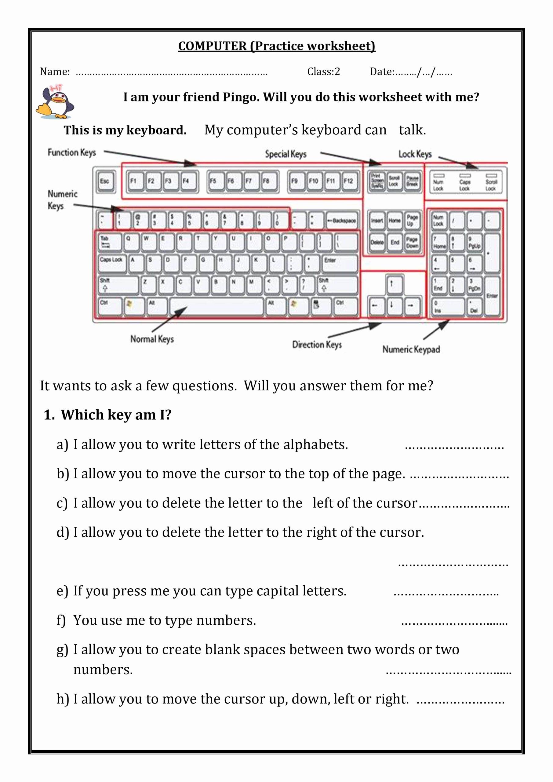 Free Printable Computer Keyboarding Worksheets Elegant Worksheet for Notes Puter Science Worksheets Samplenote