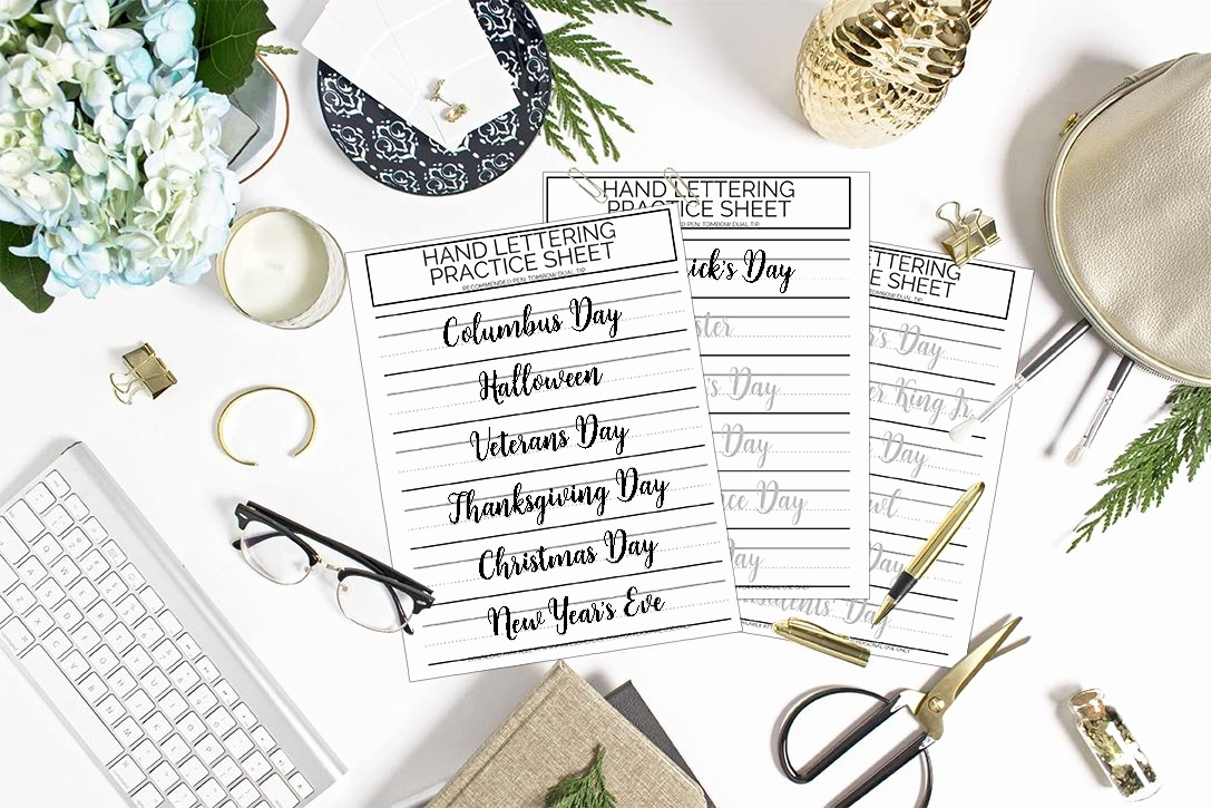 Free Printable Computer Keyboarding Worksheets Unique Free Printable Holidays Lettering Practice Sheets