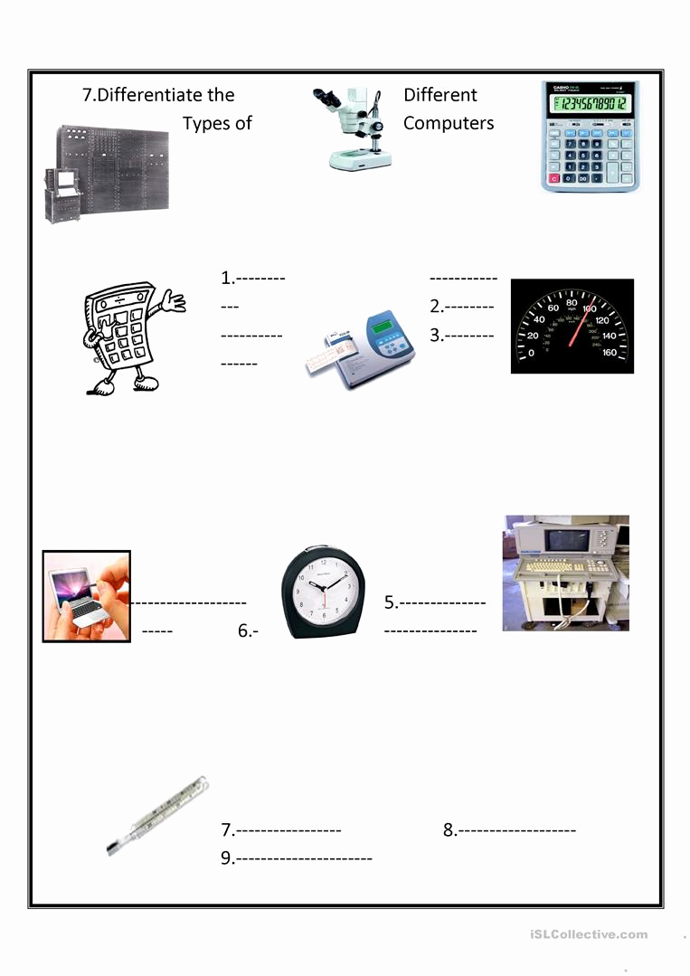 Free Printable Computer Worksheets Best Of Types Of Puter Worksheet Free Esl Printable