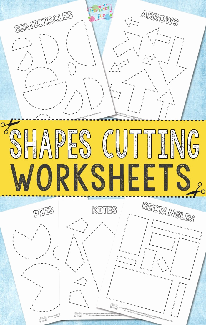 Free Printable Cutting Worksheets Awesome Cutting Shapes Worksheets Itsy Bitsy Fun
