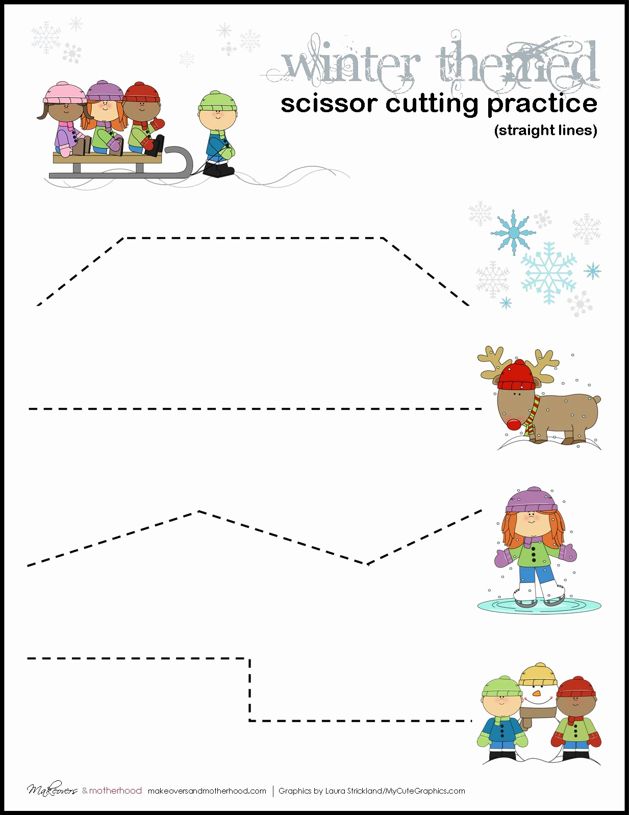 Free Printable Cutting Worksheets Best Of Winter Scissor Cutting Practice Sheets Printables