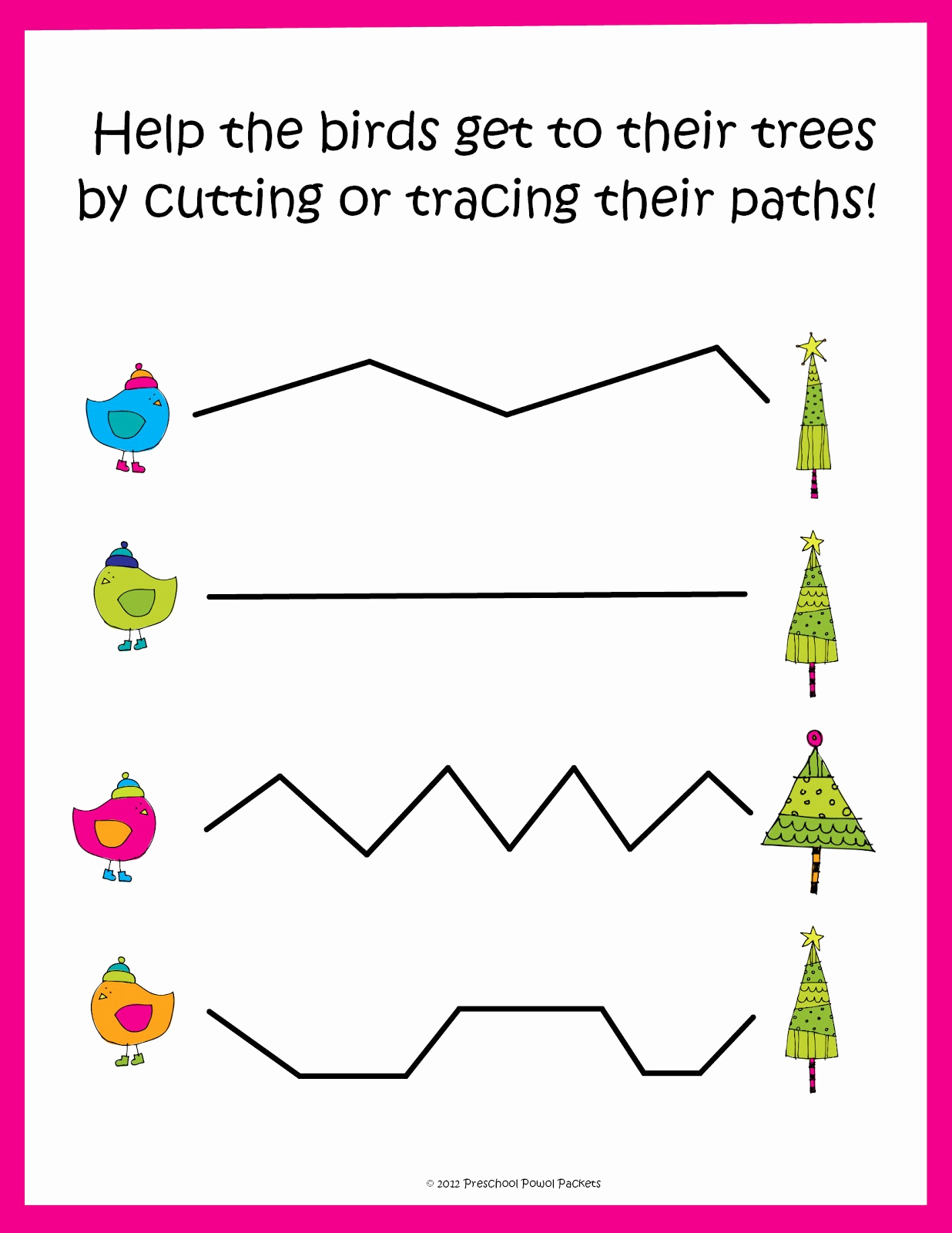 Free Printable Cutting Worksheets Elegant Free Christmas Tracing Cutting Practice