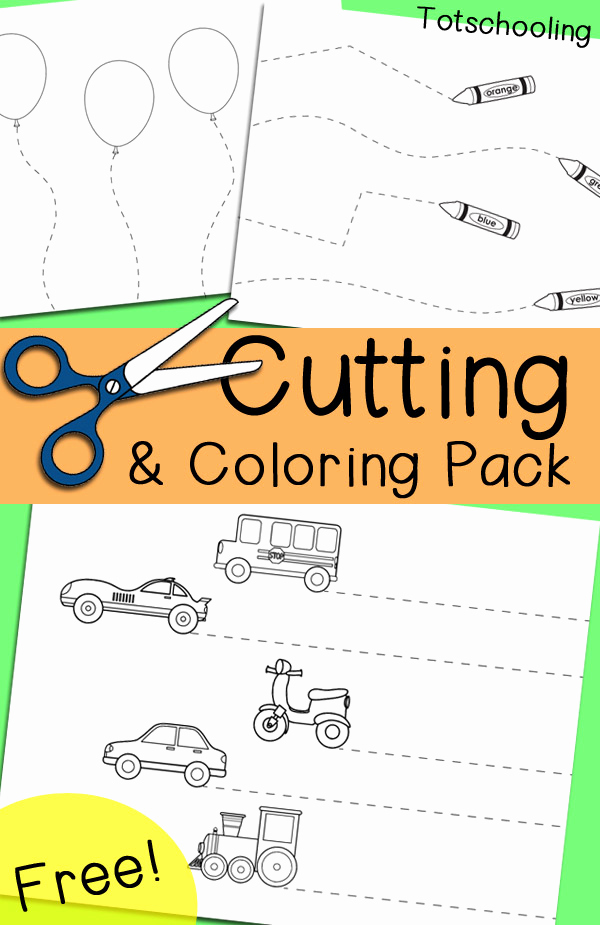 Free Printable Cutting Worksheets Luxury Free Cutting & Coloring Pack