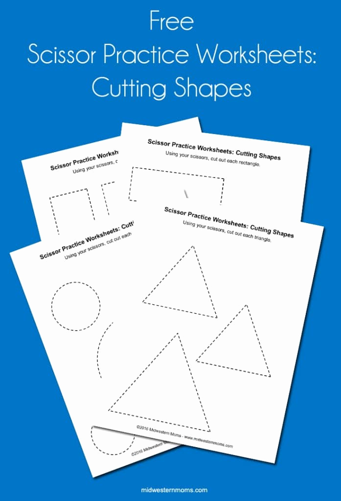 Free Printable Cutting Worksheets Unique Scissor Practice Worksheets Cutting Shapes