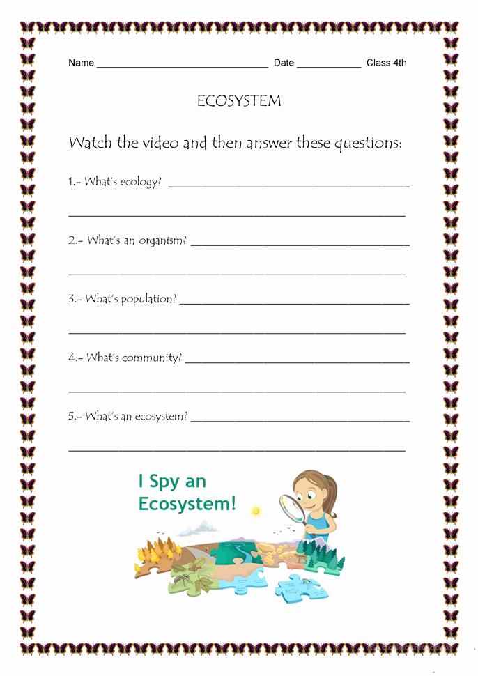 Free Printable Ecosystem Worksheets Awesome Free Printable Ecosystem Worksheets that are astounding