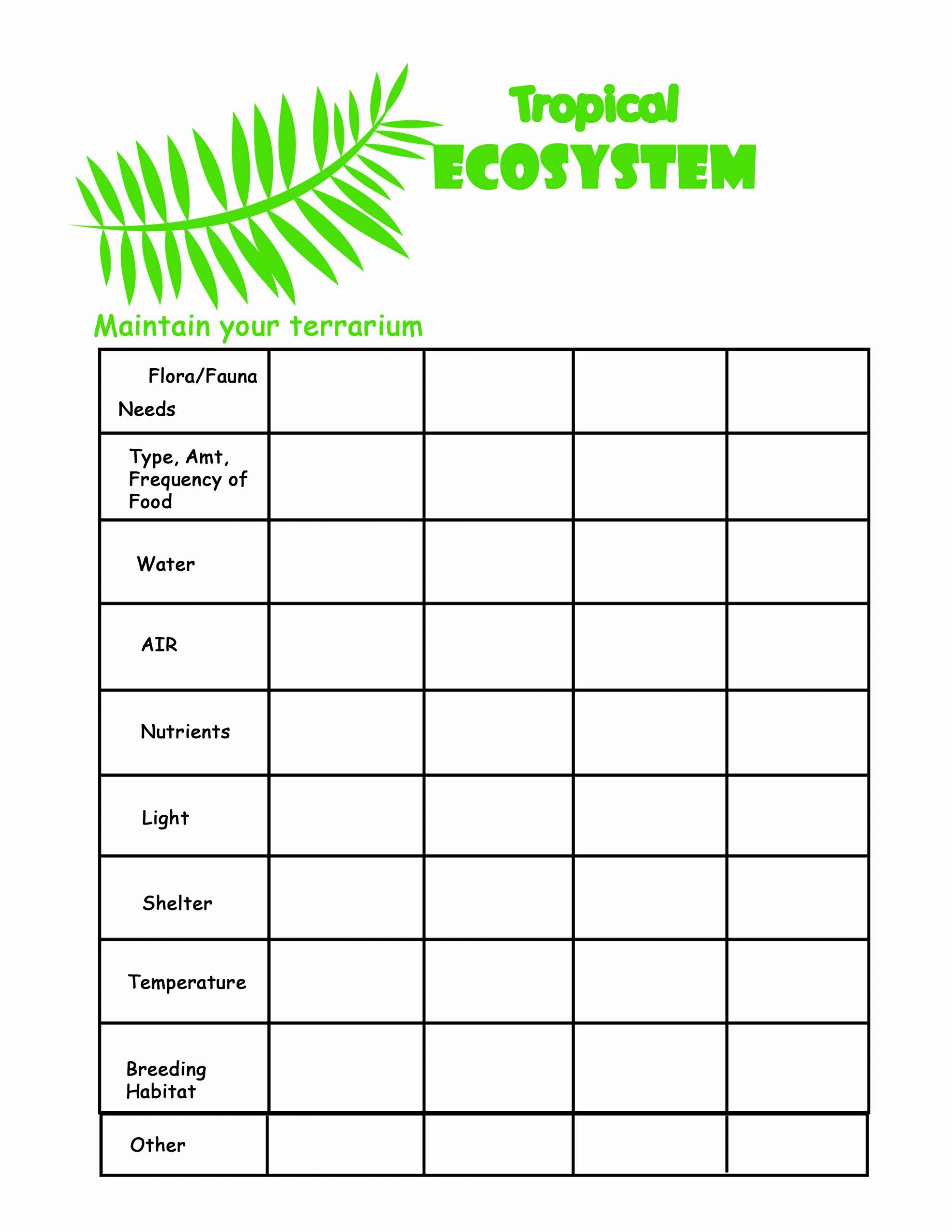 Free Printable Ecosystem Worksheets Fresh Ecosystem Matching Worksheet