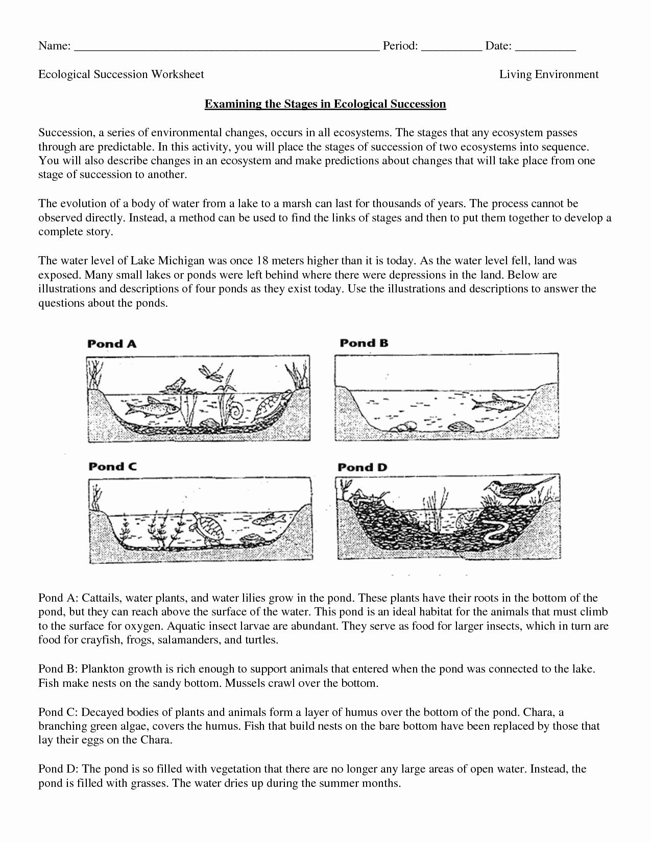 Free Printable Ecosystem Worksheets Unique Free Printable Biology Worksheets for High School