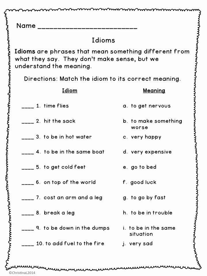 Free Printable Figurative Language Worksheets Luxury 7th Grade Figurative Language Worksheets Google Search