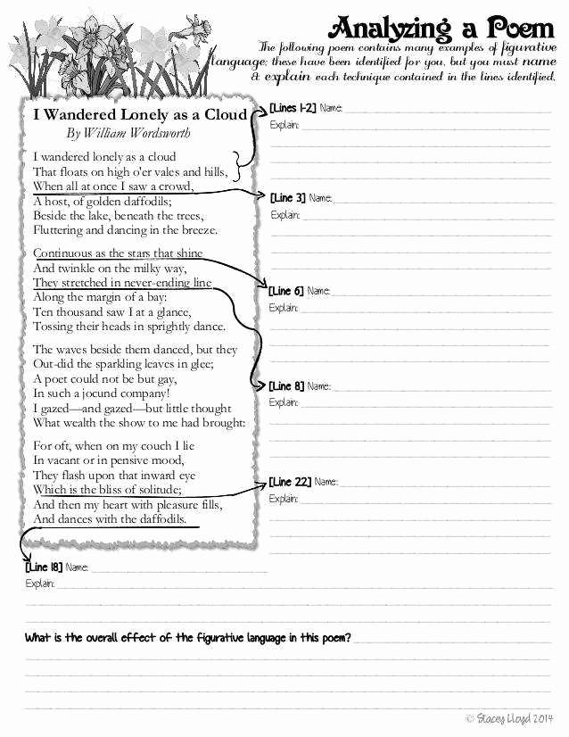 Free Printable Figurative Language Worksheets Luxury Figurative Language Worksheets