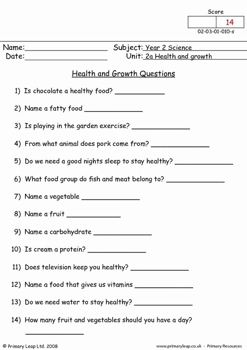 Free Printable Health Worksheets Awesome 12 Best Of Staying Healthy Worksheets Healthy