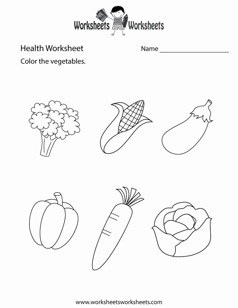 Free Printable Health Worksheets Best Of Simple Health Worksheet Free Printable Educational Worksheet