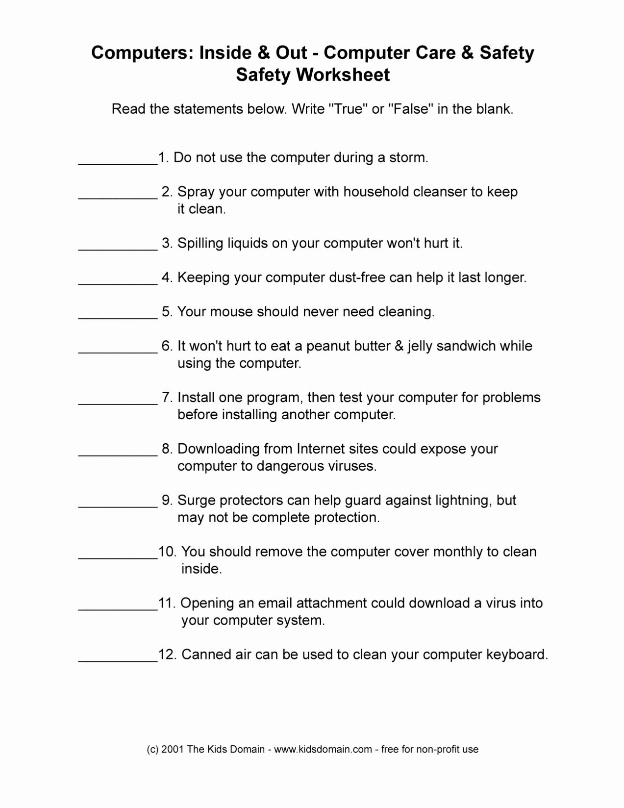 Free Printable Health Worksheets Fresh 13 Best Of Health and Wellness Worksheets