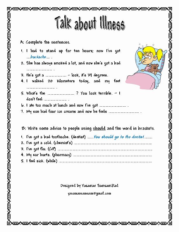 Free Printable Health Worksheets Inspirational 200 Free Printable Health Activities