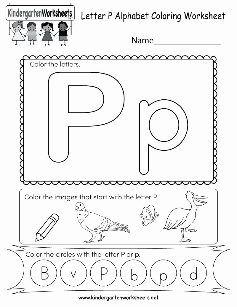 Free Printable Letter P Worksheets Awesome Letter P Coloring Worksheet Free Kindergarten English