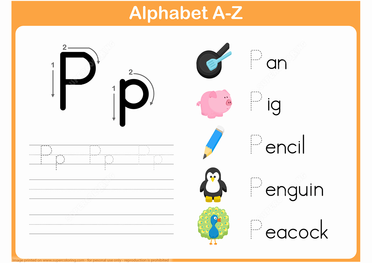 Free Printable Letter P Worksheets Awesome Letter P Tracing Worksheet