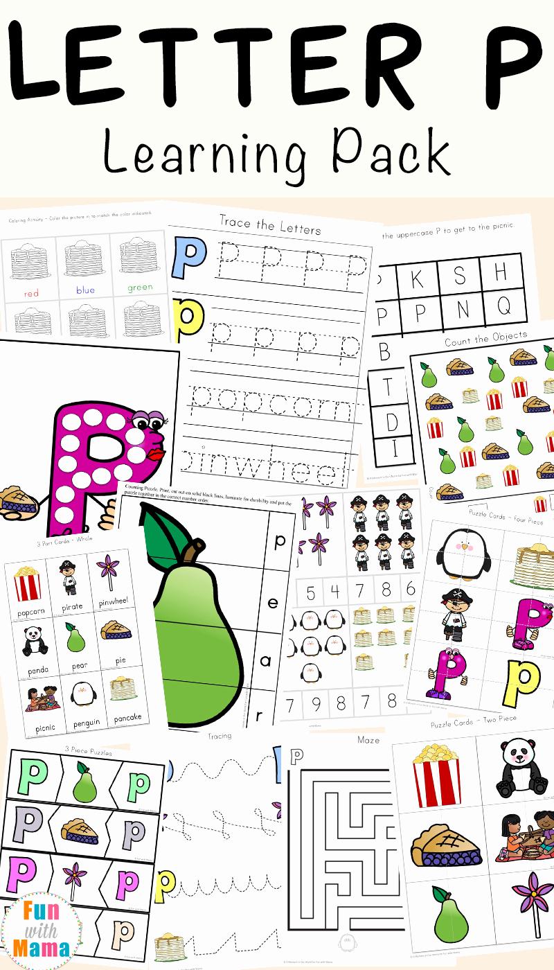Free Printable Letter P Worksheets Elegant Letter P Worksheets Printables Fun with Mama