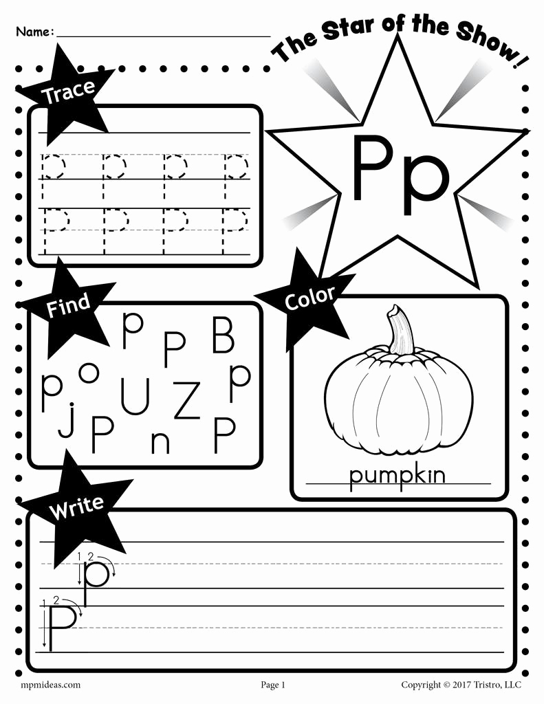 Free Printable Letter P Worksheets Lovely Letter P Worksheet Tracing Coloring Writing & More