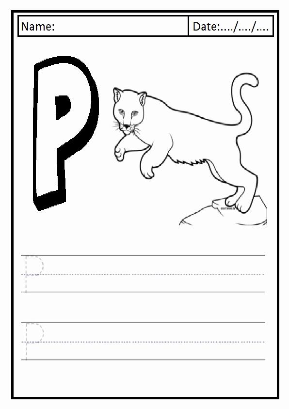 Free Printable Letter P Worksheets Unique Uppercase Letter P Worksheet Free Printable Preschool