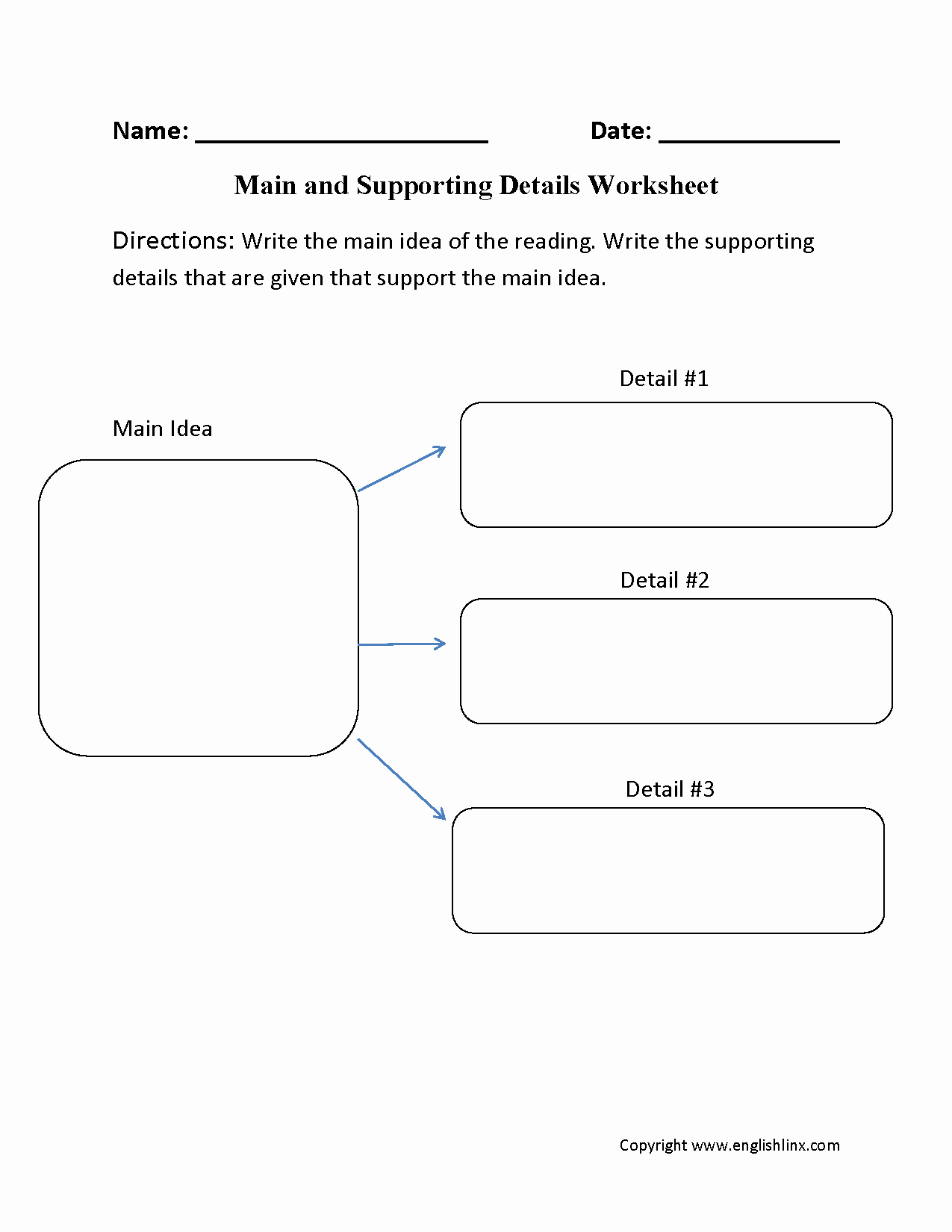 Free Printable Main Idea Worksheets Best Of 29 Prehensive Main Idea Worksheets