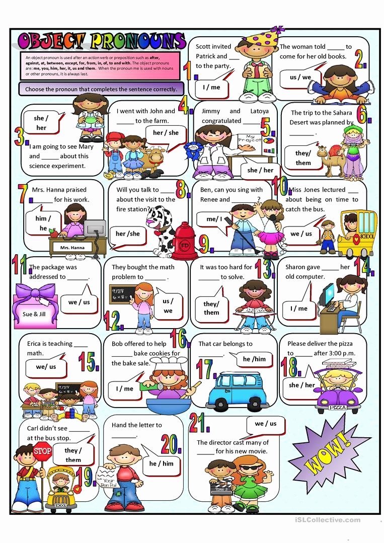 Free Pronoun Worksheets Beautiful 35 Esl Subject Pronouns Worksheet Free Worksheet Spreadsheet