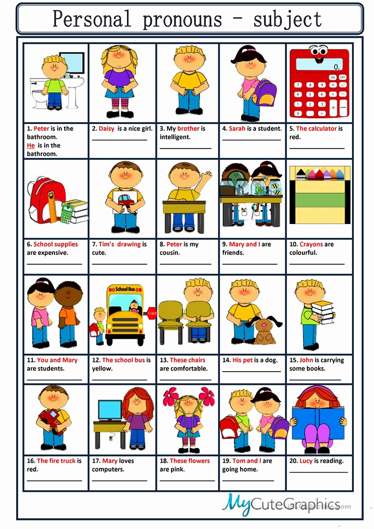 Free Pronoun Worksheets Best Of Personal Pronouns English Esl Worksheets for Distance