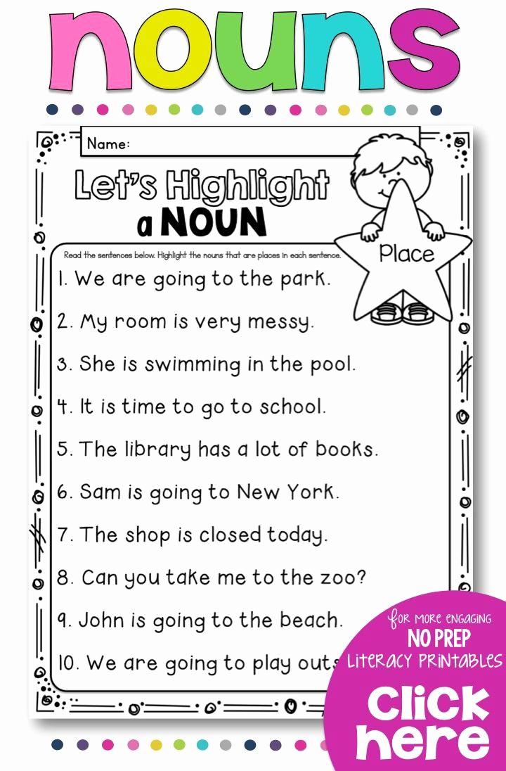 Free Proper Noun Worksheets Best Of 3 Proper Nouns Worksheet In 2020