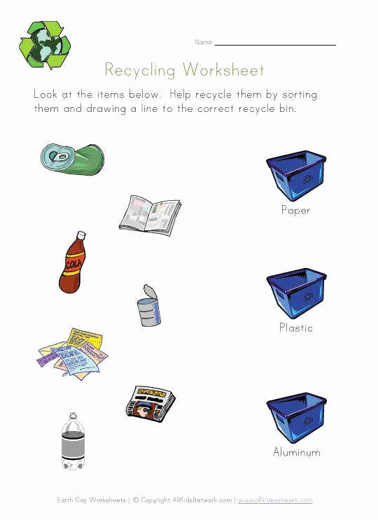Free Recycling Worksheets Awesome Recycling Worksheets