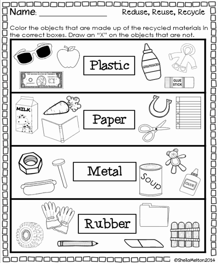 Free Recycling Worksheets Beautiful 5 Best Of What Can We Recycle Worksheet Reduce