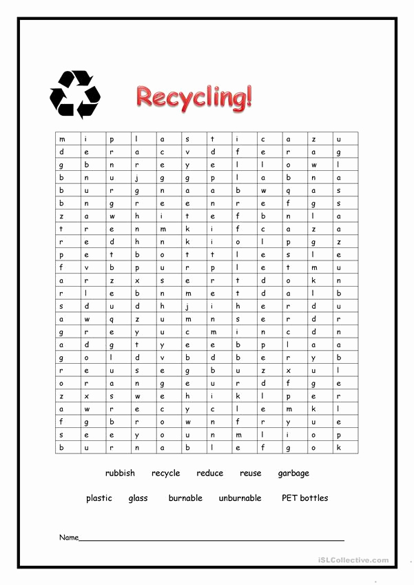 Free Recycling Worksheets Beautiful Recycling Worksheet Free Esl Printable Worksheets Made