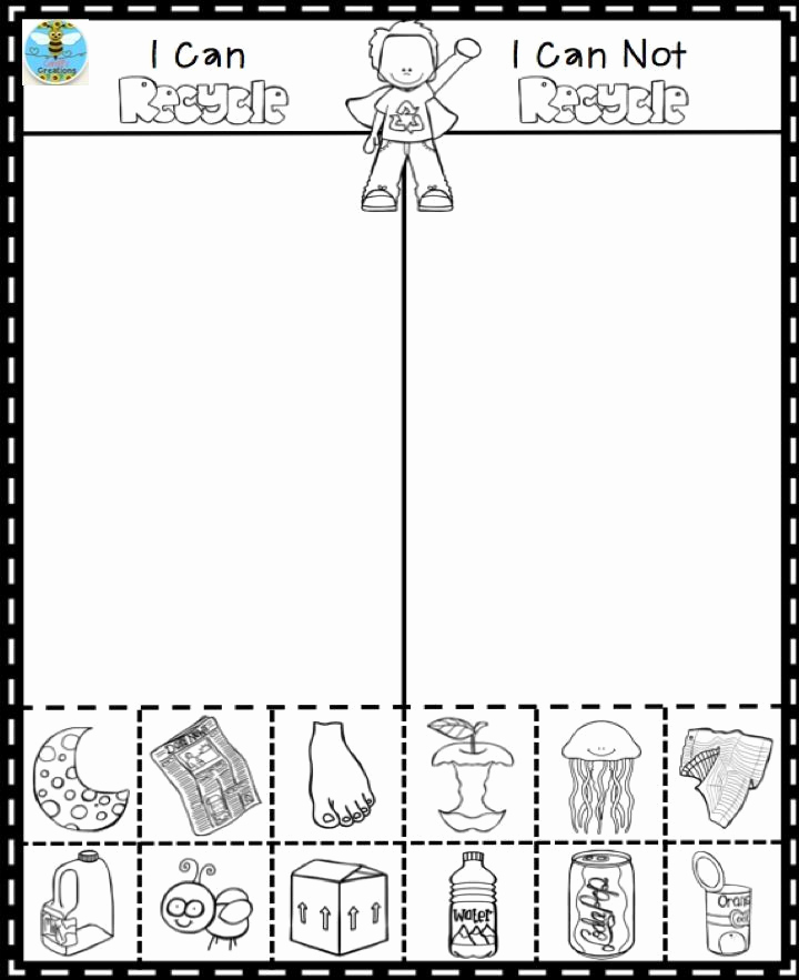 Free Recycling Worksheets Best Of Recycling Worksheet for Kindergarten In 2020
