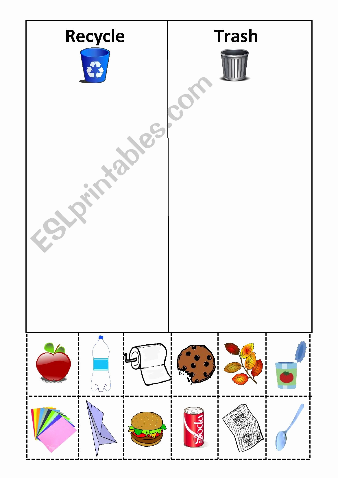 Free Recycling Worksheets Inspirational Recycle Worksheets