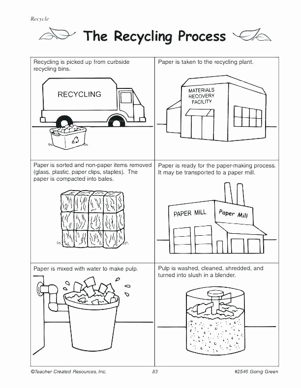 Free Recycling Worksheets New Recycling Worksheets for Middle School Recycling