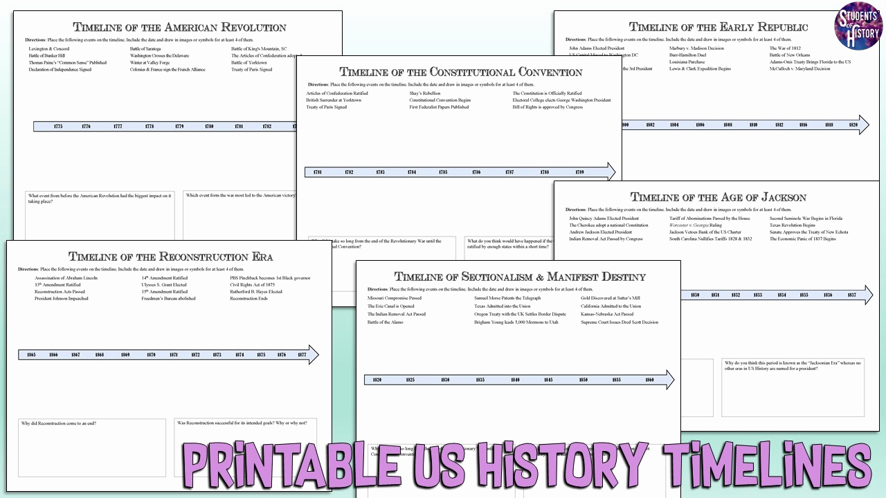 Free Us History Worksheets Awesome Free American History Worksheets for High School