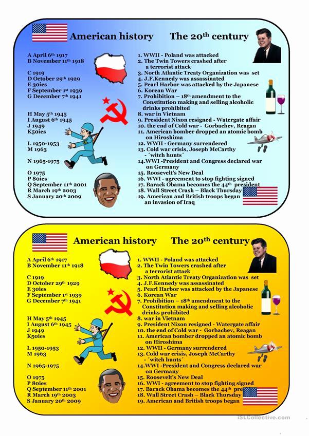 Free Us History Worksheets Beautiful 20thcentury American History Worksheet Free Esl
