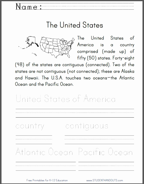 Free Us History Worksheets Elegant United States Primary Worksheet