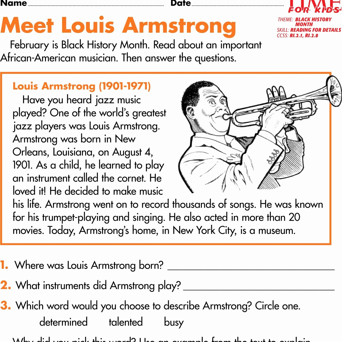 Free Us History Worksheets Lovely Students Read About the Achievements Of Four Famous