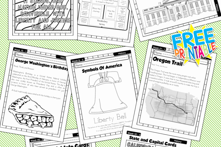Free Us History Worksheets Luxury American History Work Book Ages 6 to 8 Free Printable