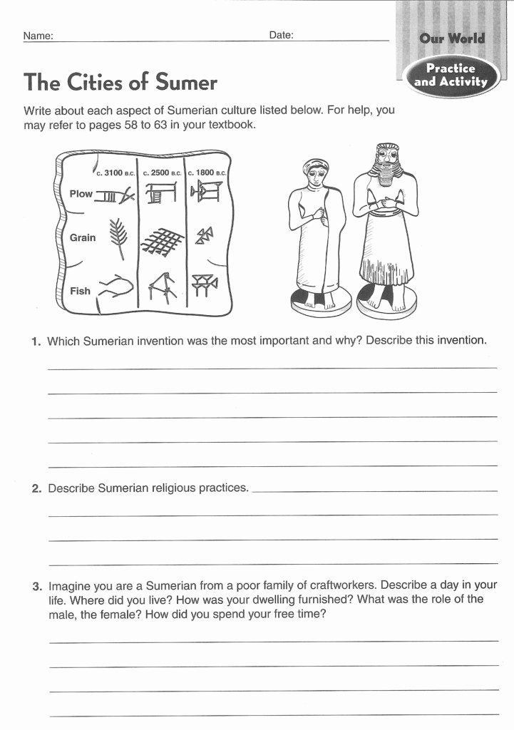 Free World History Worksheets Beautiful Archaeology Worksheets Middle School