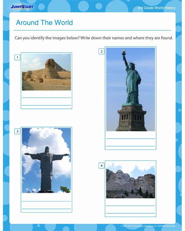 Free World History Worksheets Best Of Around the World View – Free World History Printables and