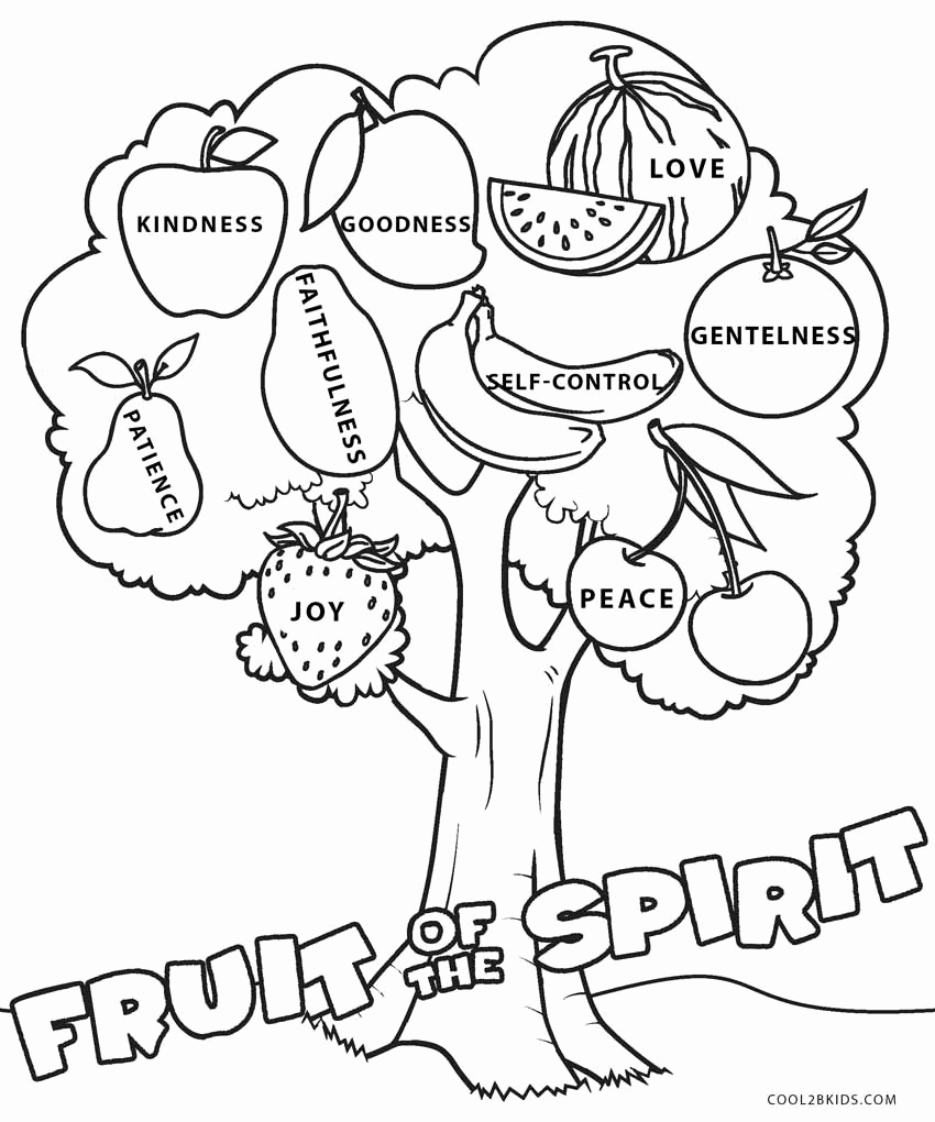 Fruits Of the Spirit Worksheets Beautiful 30 Fruits the Spirit Worksheets