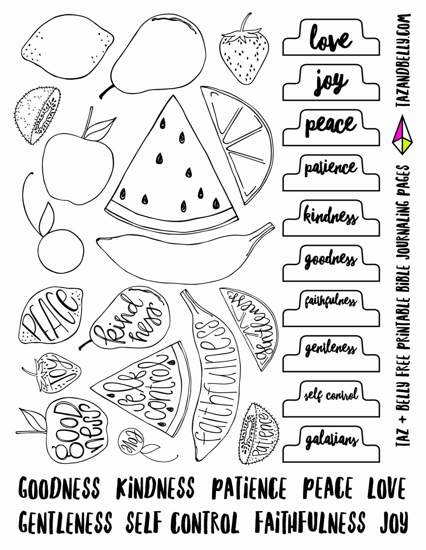 Fruits Of the Spirit Worksheets Best Of Printable Fruit Of the Spirit Bible Journaling