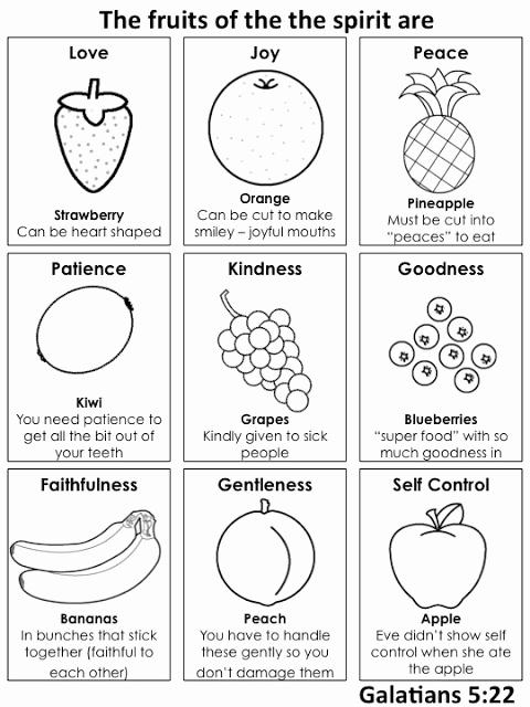 Fruits Of the Spirit Worksheets Elegant All Play Sunday the Fruits Of the Spirit