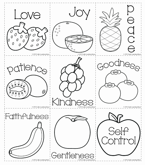 Fruits Of the Spirit Worksheets Inspirational Fruit Of the Spirit Matching and Coloring Cards Freebie