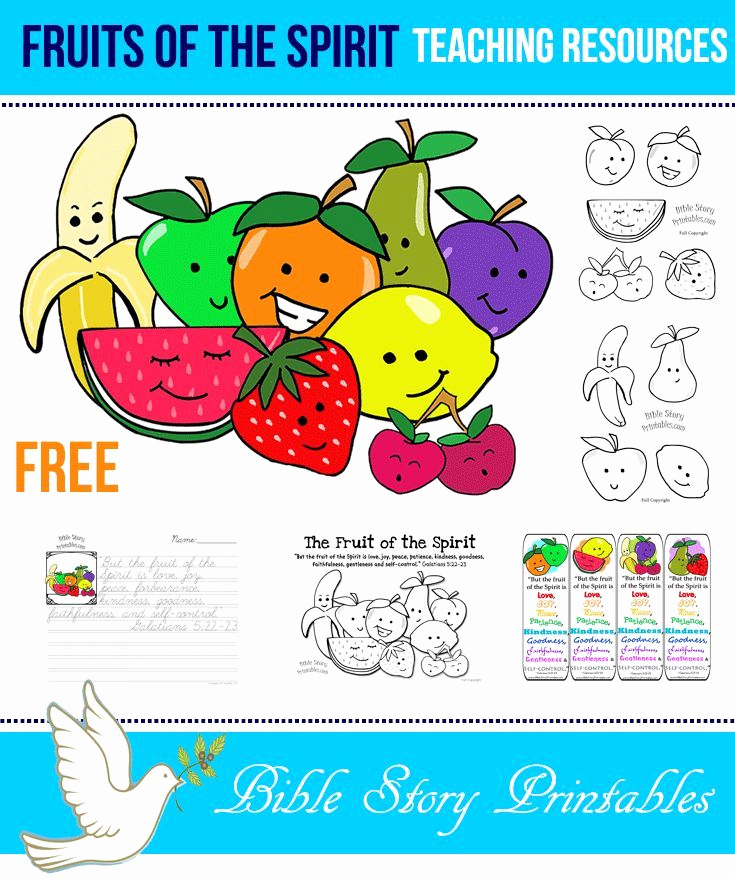 Fruits Of the Spirit Worksheets Inspirational Fruit Of the Spirit Printables Teaching Resources