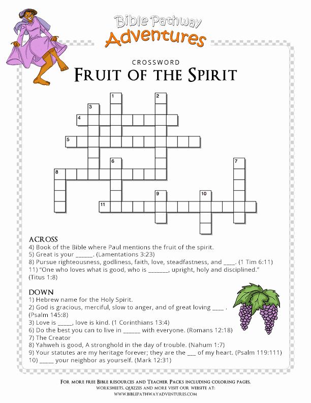 Fruits Of the Spirit Worksheets Lovely Bible Quiz for Kids Fruit Of the Spirit