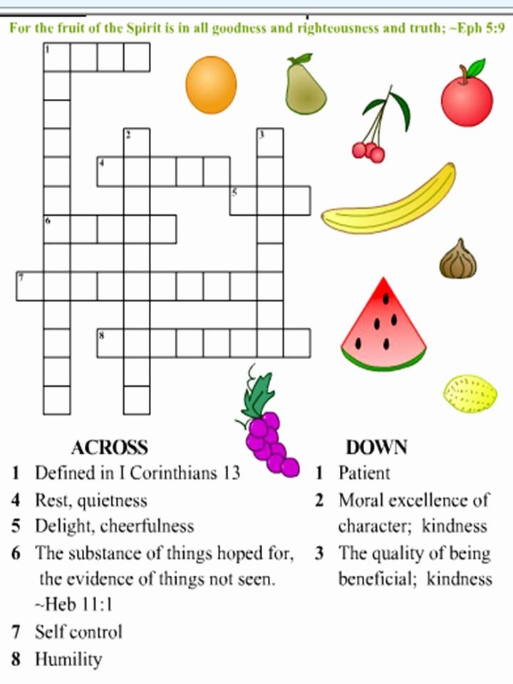 Fruits Of the Spirit Worksheets Lovely Fruit Of the Spirit for Kids