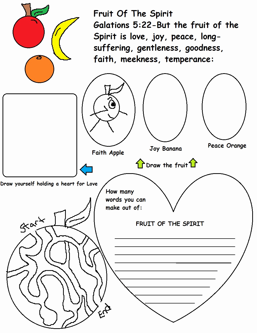 Fruits Of the Spirit Worksheets Luxury Church House Collection Blog Sunday School Lessons