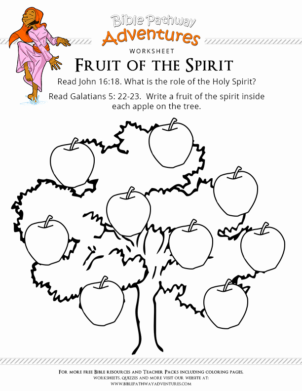 Fruits Of the Spirit Worksheets Unique Free Bible Worksheet Fruit Of the Spirit