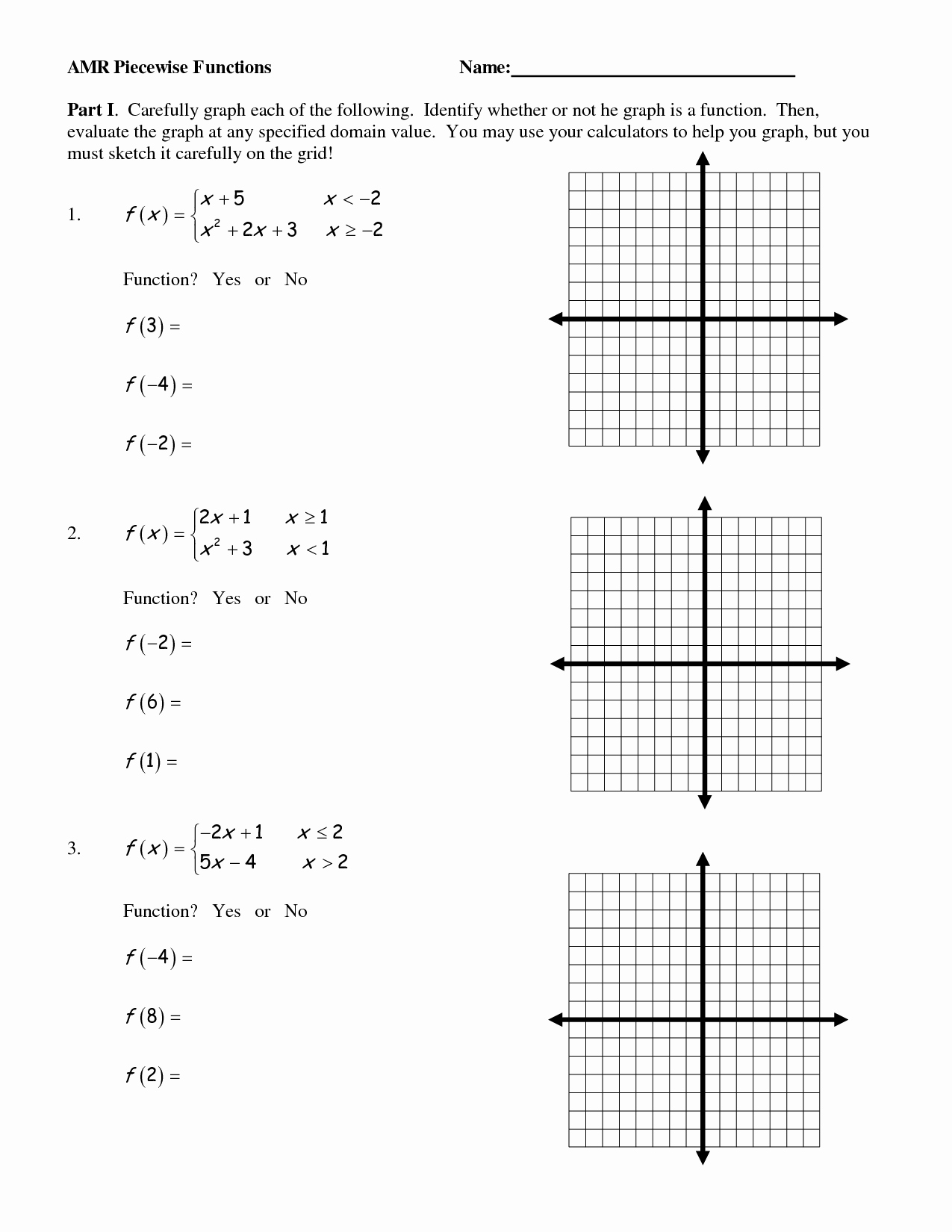 Function Table Worksheet Answer Key Awesome 17 Best Of Graph Functions Worksheets Algebra