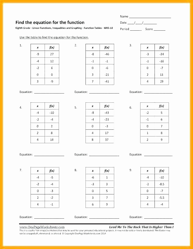Function Table Worksheet Answer Key New 25 Function Table Worksheet Answer Key